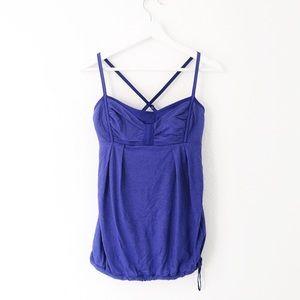 Lululemon Purple Indigo Crossback Tie Waist Tank
